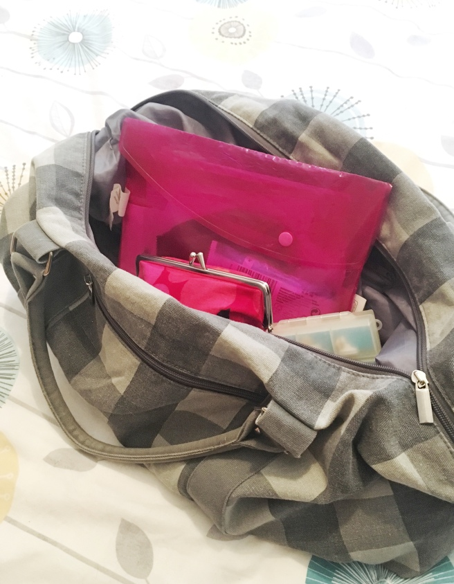 "What's in my bag - the Crohnie version. When you have Crohn's Disease, the contents of your bag or purse might be slightly different from all of the other glam ""what's in my bag"" posts - take a look at what I keep in mine!"